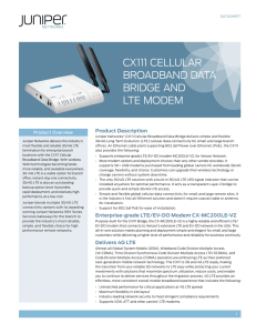 CX111 Cellular Broadband Data Bridge and LTE