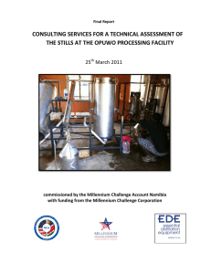 Technical Assessment of the Essential Oil Stills at the Opuwo