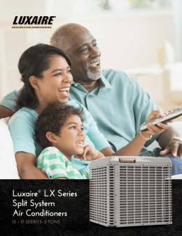 Luxaire® LX Series Split System Air Conditioners