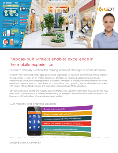 Purpose-built wireless enables excellence in the mobile experience