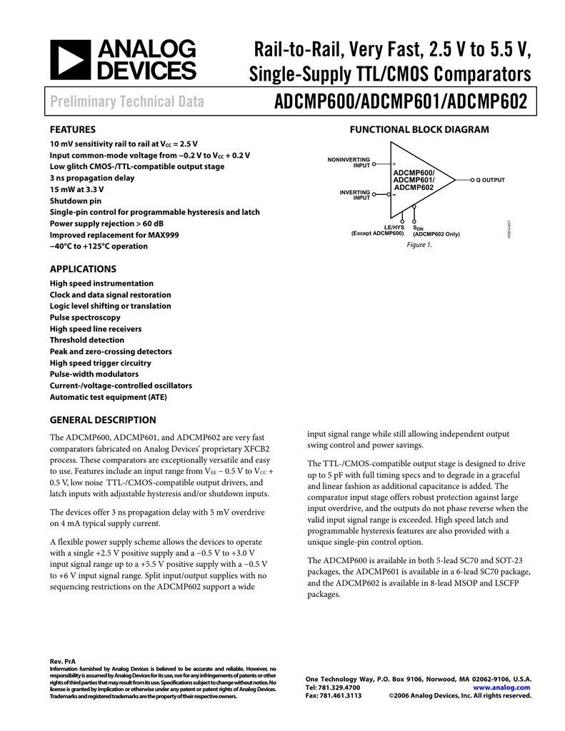 Analog Devices Chipfind Manufacturer Datasheet And High Level Block Diagram