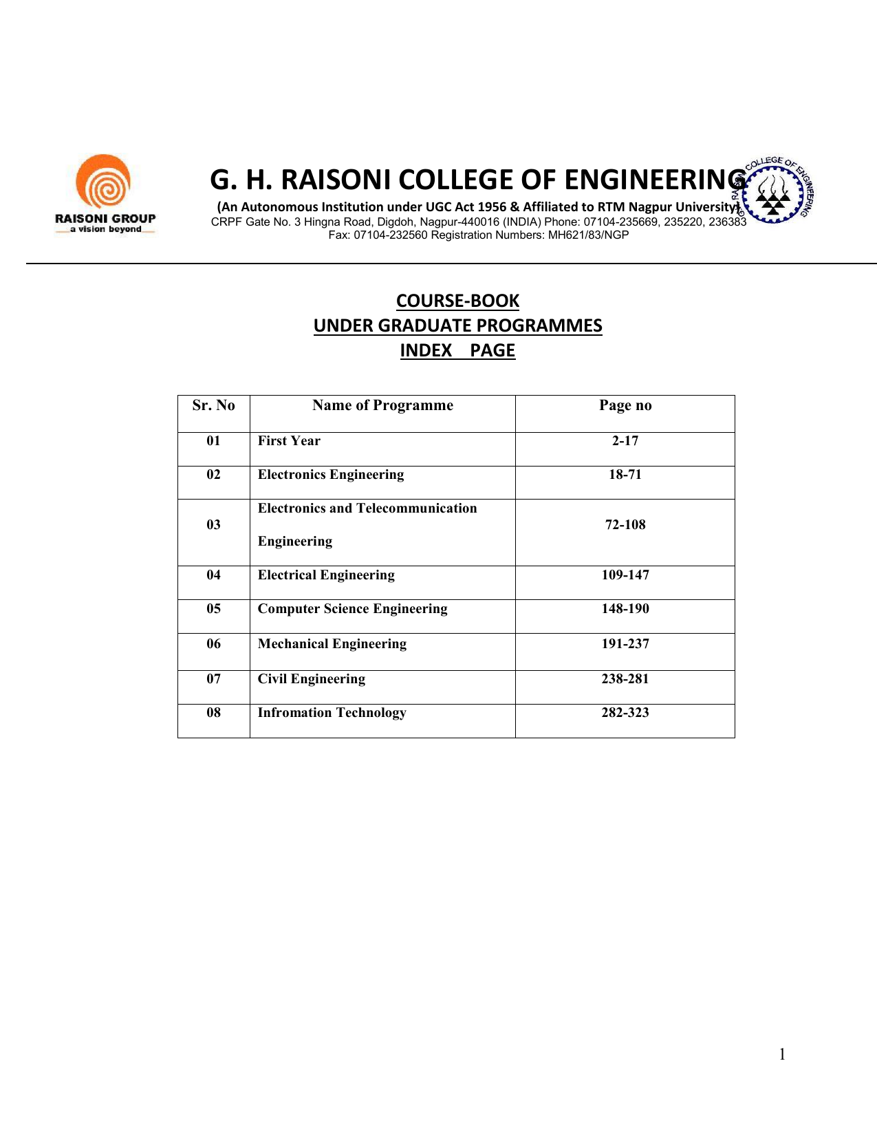 Ug course book 2015 16 gh raisoni college of engineering ccuart Images