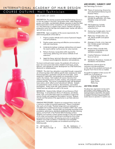 Nail Technology Course Outline - International Academy of Hair