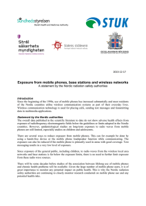 Exposure from mobile phones, base stations and wireless networks