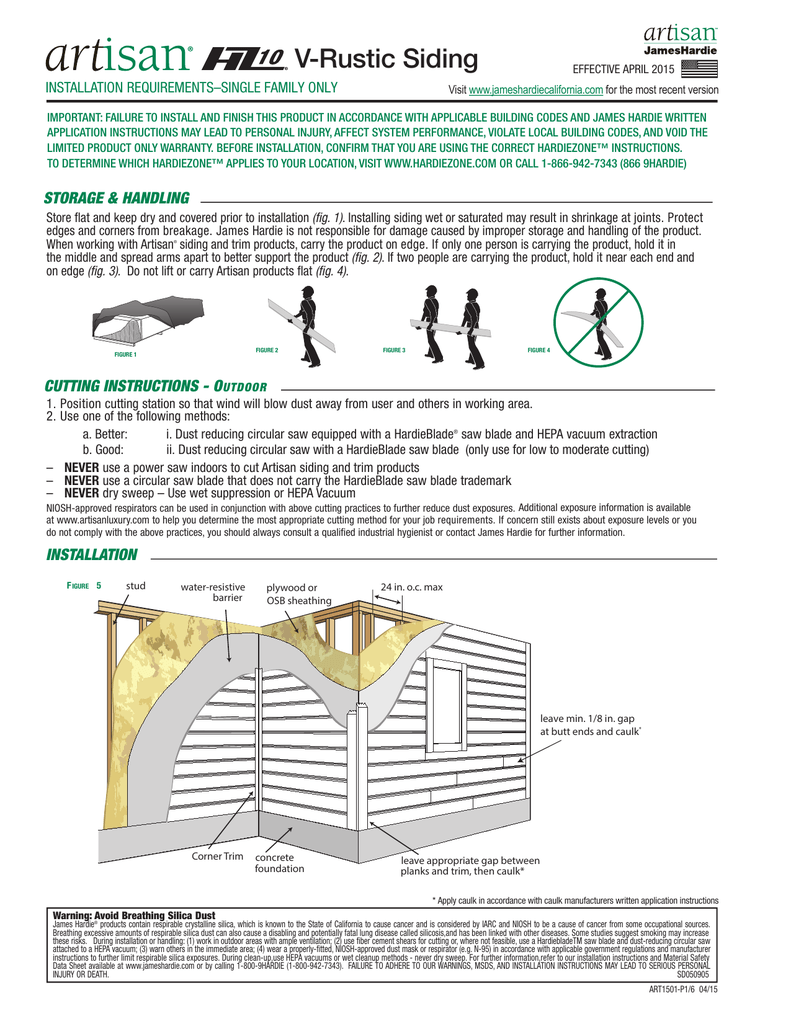 Cement board siding installation guide: hardie board siding.
