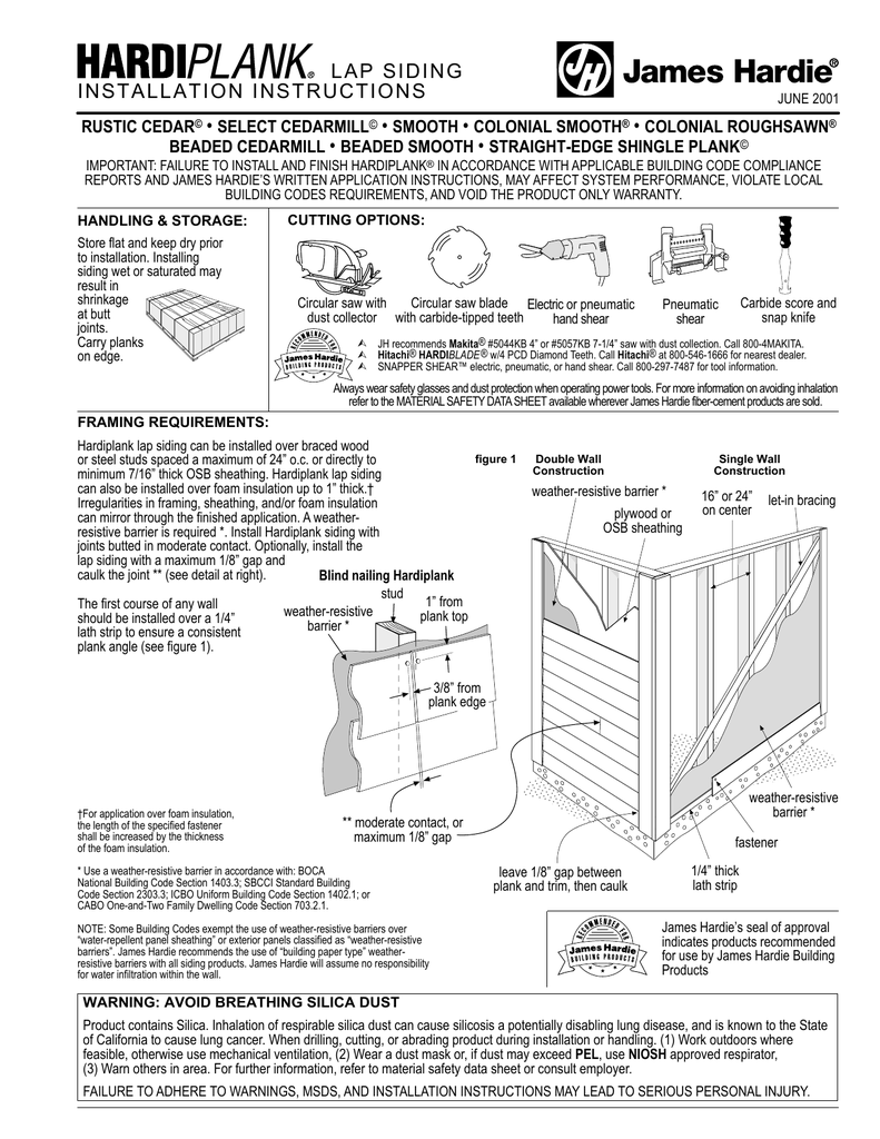 Hardiplank Installation Instructions