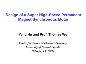High-Speed Permanent Magnet Synchronous Motor Close Loop