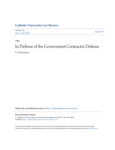 In Defense of the Government Contractor Defense