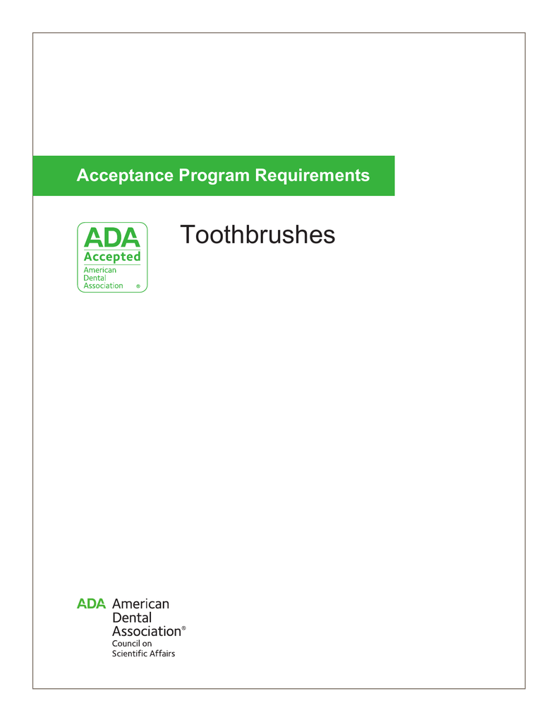 Toothbrushes - American Dental Association
