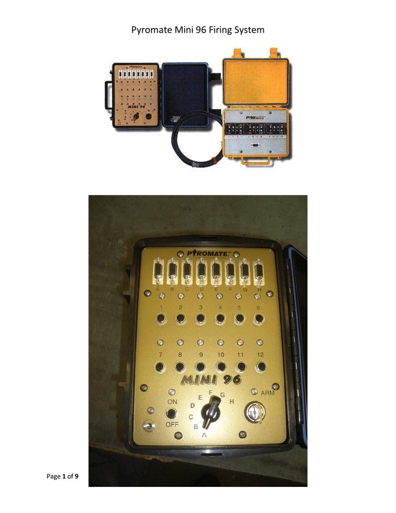 Pyromate Mini 96 Firing System Circuit Electronic Pyro Igniter Projects 018696932 1 540e6c910bba1351d8cbf96da1b8ccec