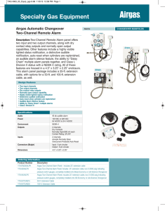 Alarm System - Airgas Catalog Selector