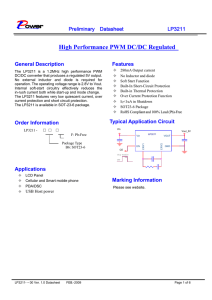 High Performance PWM DC/DC Regulated