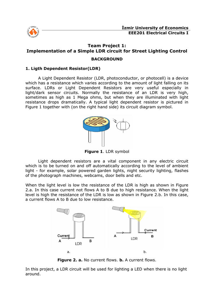 Implementation of a Simple LDR circuit for Street Lighting Control