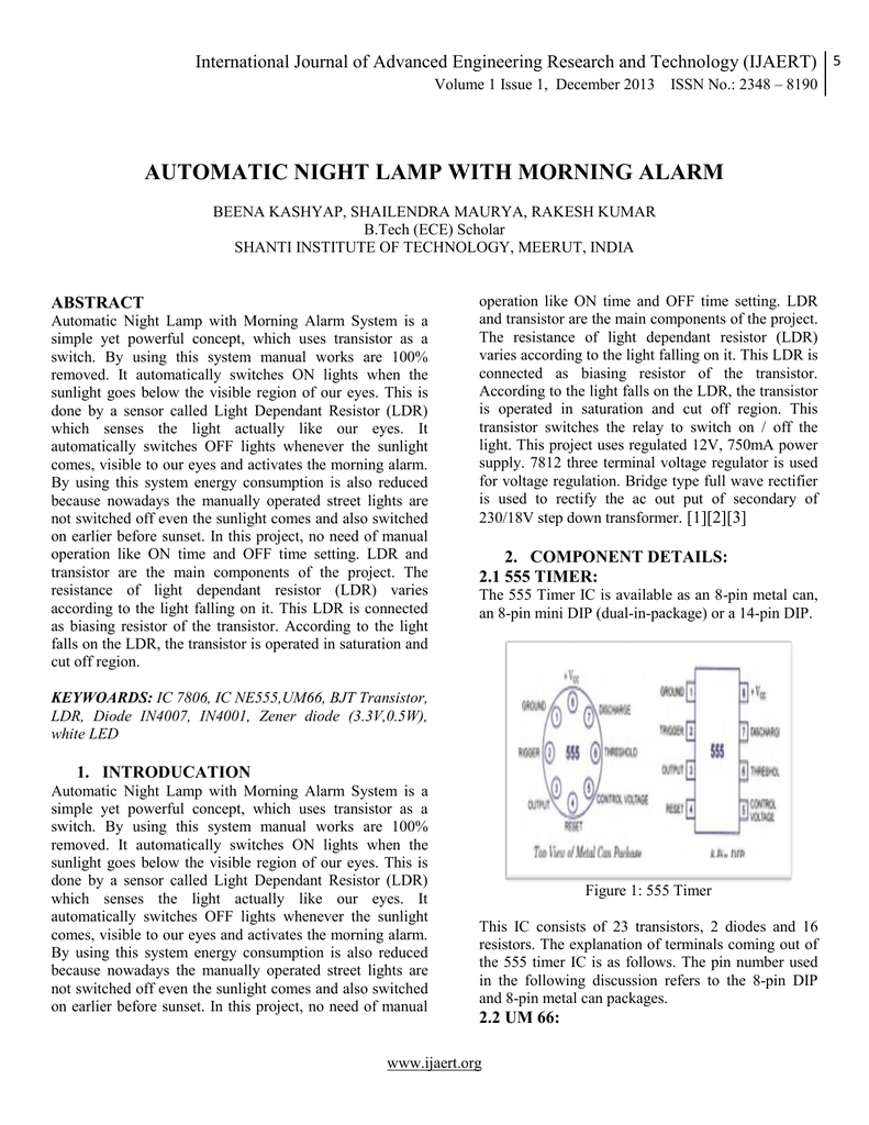 Using 555 Timer And Light Dependent Resistorldr Build Circuit Automatic Night Lamp With Morning Alarm 018697837 1 933adb8cd5d6423851486ff75b9f5a40