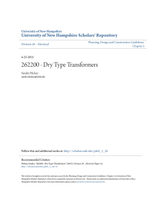 262200 - Dry Type Transformers - University of New Hampshire