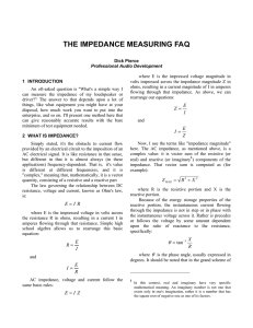 The Impedance Measuring FAQ