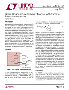 Single-Channel Power Supply Monitor with Remote Temperature