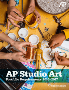 AP Studio Art Portfolio Requirements 2016-2017