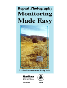 Repeat Photography Monitoring Made Easy