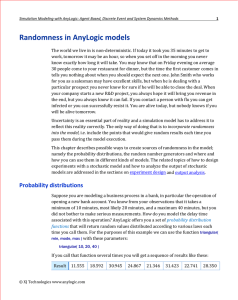 Randomness in AnyLogic models