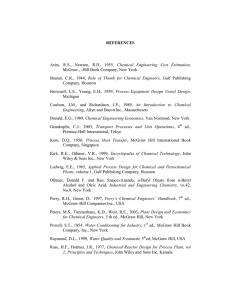 REFERENCES Aries, RS, Newton, RD, 1955, Chemical Engineering