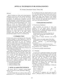 Beam diagnostics essay