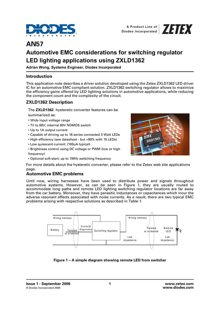 Automotive EMC considerations for switching regulator LED