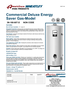 Commercial Deluxe Energy Saver Gas-Model
