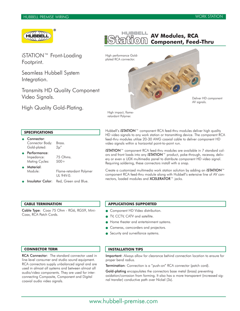AV Modules, RCA Component, Feed-thru - Accu-Tech