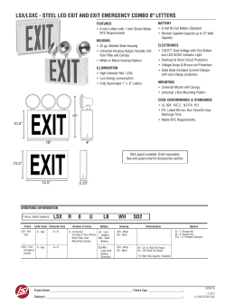 lsx/lsxc - steel led exit and exit emergency combo 8