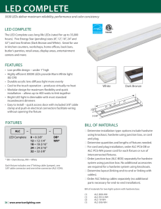 American Lighting ALC-32-WH Spec Sheet