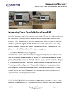Measuring Power Supply Noise with an RSA