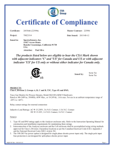 Certifica ate of Complia ance