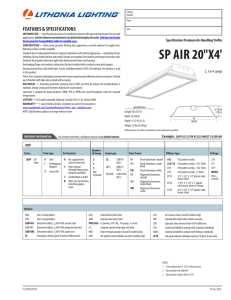 "SP AIR 20""X4 - Acuity Brands"