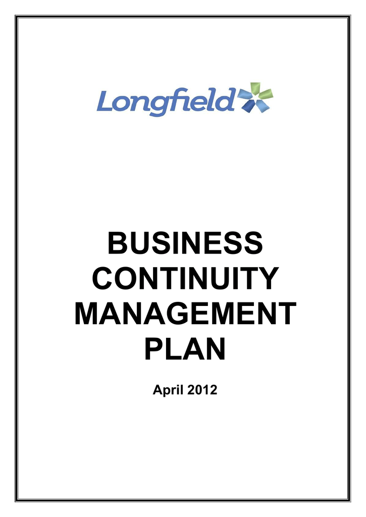 Business Continuity Management plan – March
