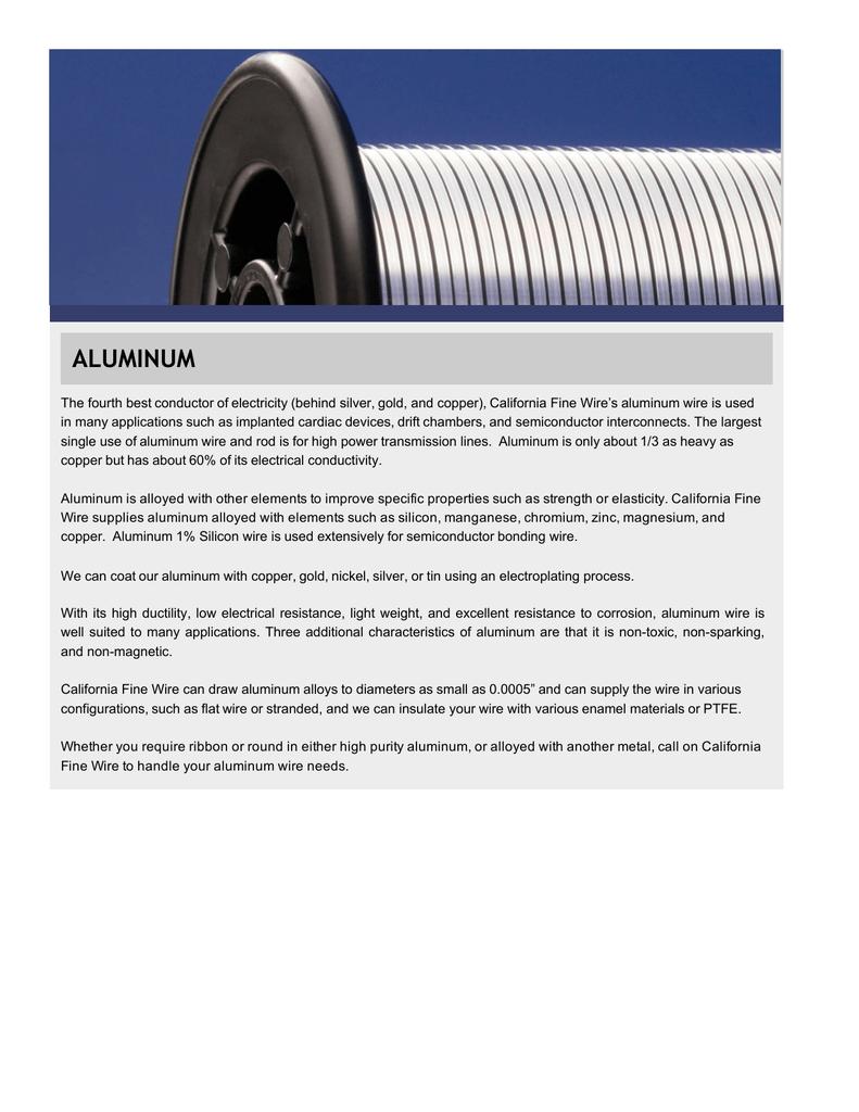 Aluminum California Fine Wire Copper Or Wiring