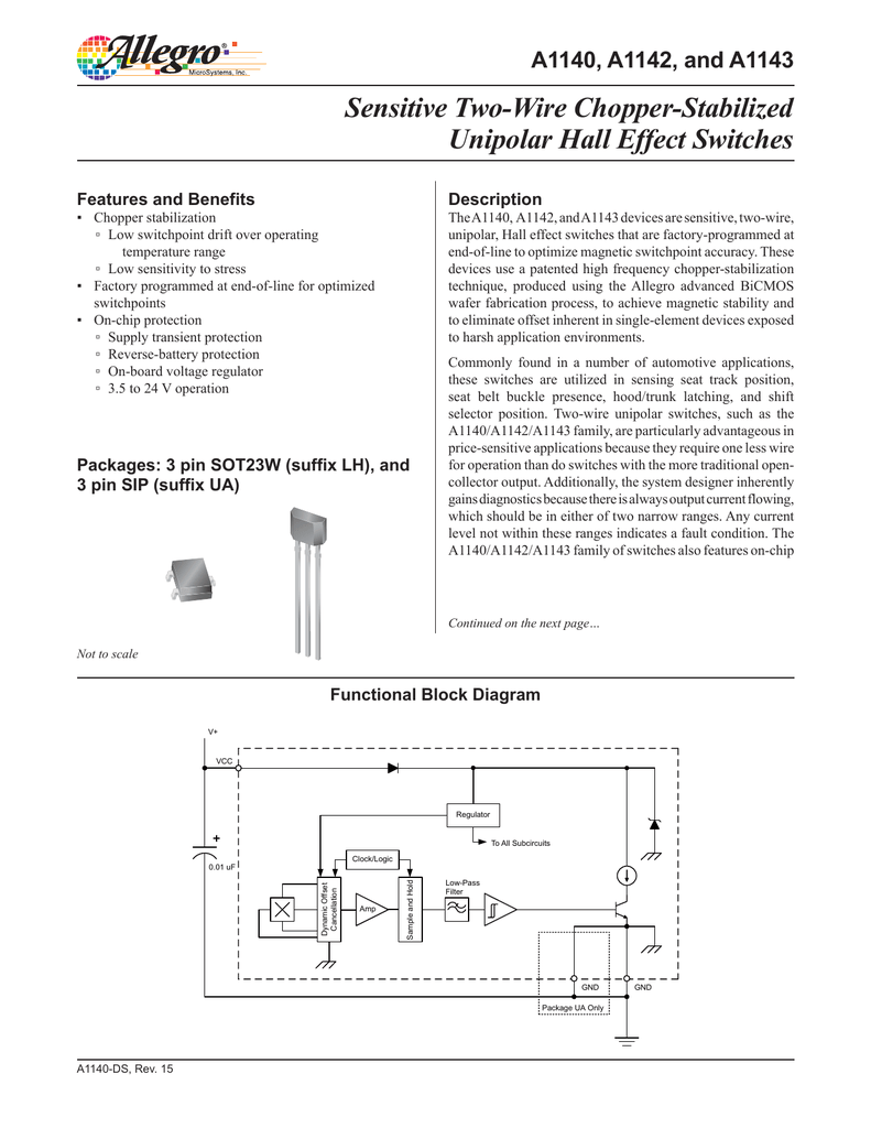 Sensitive Two Wire Chopper Stabilized Unipolar Hall Effect Switches Halleffectswitches