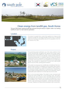 Clean energy from landfill gas, South Korea