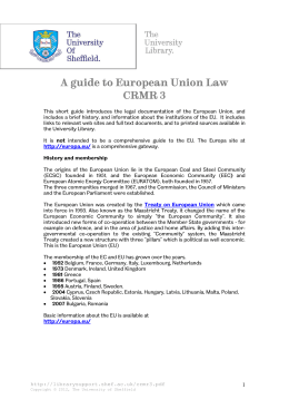 A guide to European Union Law CRMR 3