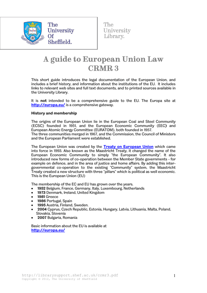 A Guide to European Economic Community Law