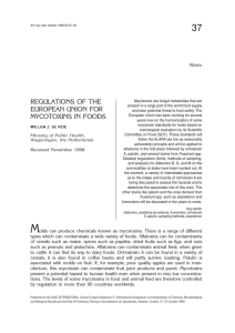 REGULATIONS OF THE EUROPEAN UNION FOR MYCOTOXINS IN