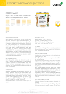 Product Information - Osmo NZ, importers of OSMO Polyx (Hardwax)