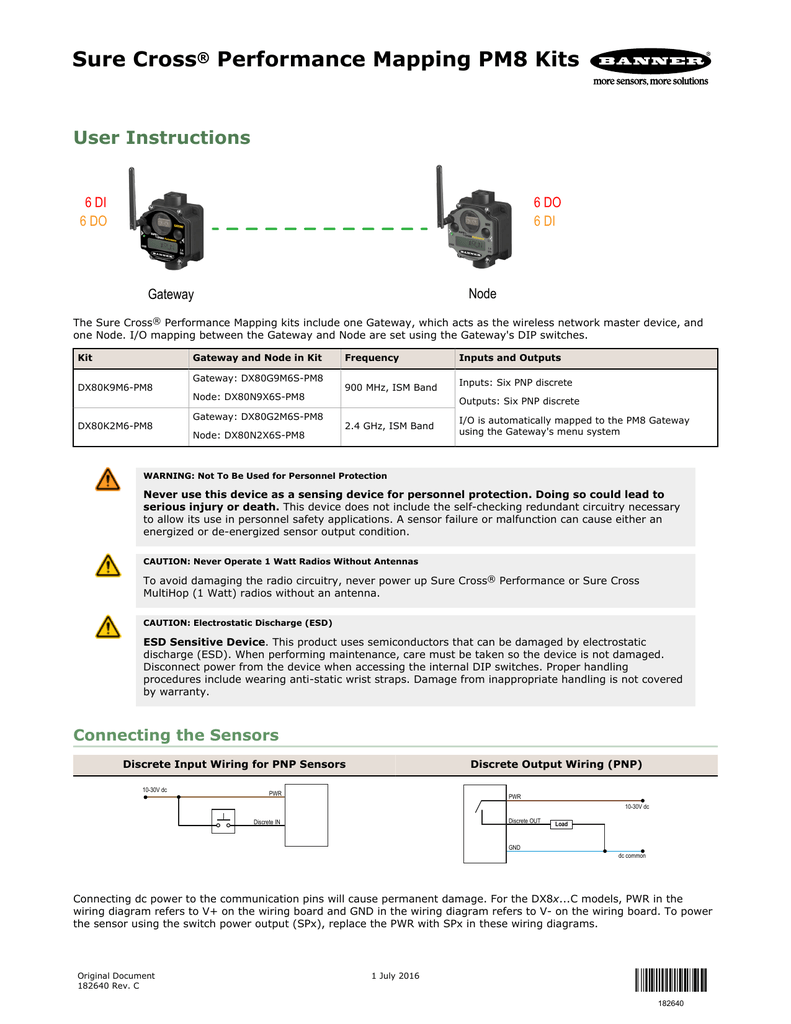 182640 Banner Engineering Dc Pnp Wiring Diagrams