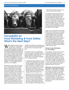 Traceability for Food Marketing and Food Safety