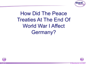 Germany and the end of World War 1