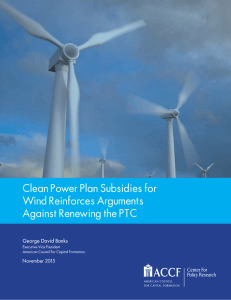 Clean Power Plan Subsidies for Wind Reinforces
