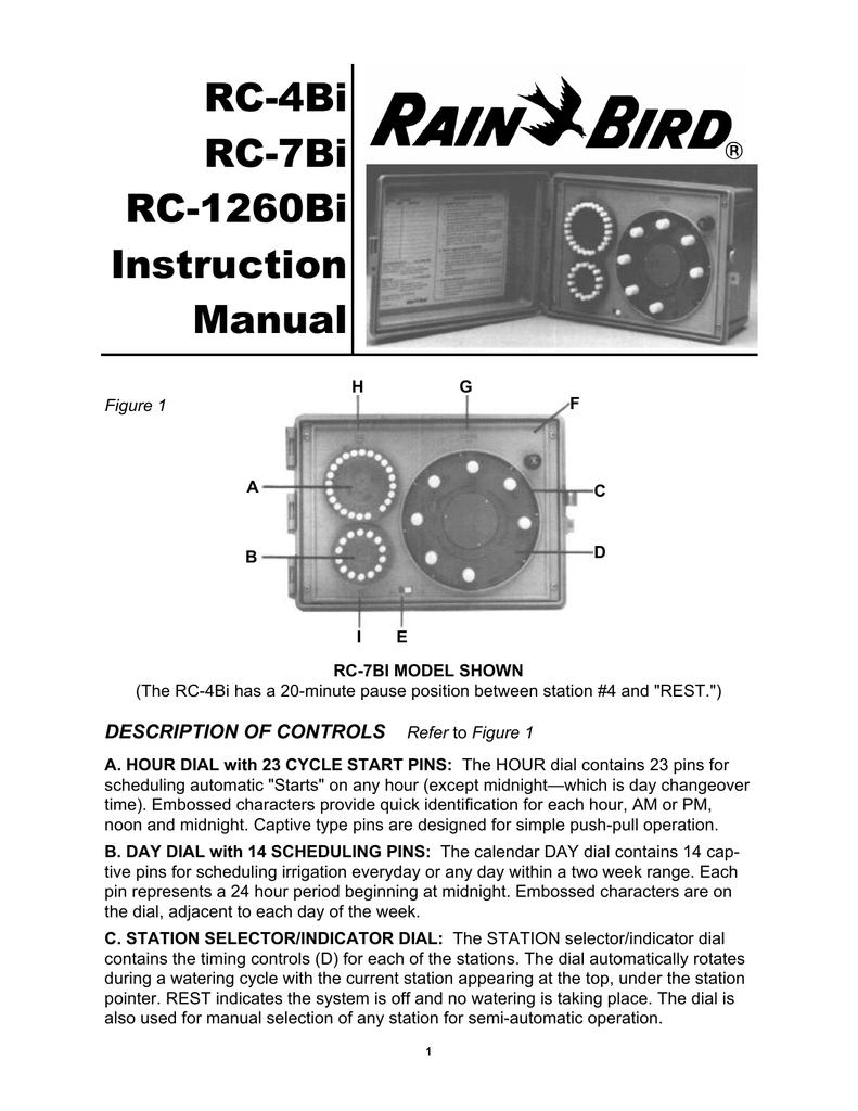 Rain Bird RC-Bi user manual Rain Bird Sprinkler Rc Bi Wiring Diagram on
