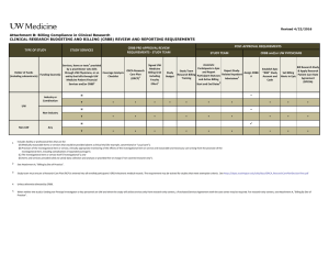 Research Billing Compliance Reporting Requirements