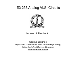 Feedback - Department of Electrical Communication Engineering