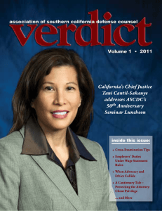 California`s Chief Justice Tani Cantil